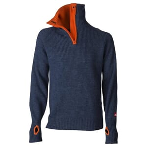 Ulvang Rav Sweater, Navy Melange/Coral Rose
