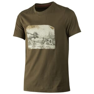 Härkila Odin Moose & Dog t-shirt, willow green