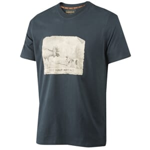 Härkila Odin Moose & Dog t-shirt, dark navy