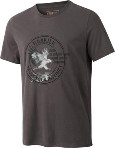 Härkila Wildlife Eagle S/S t-shirt, Mulch grey