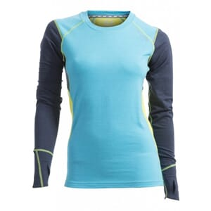 Ulvang Training Round neck, blue atoll/lime punch, dame