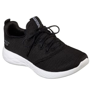 Skechers Womens Go Run 600 Defiance Black White