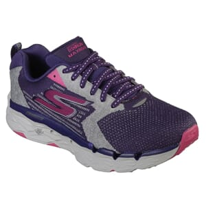 Skechers Womens GOrun Max Road, Purple Pink